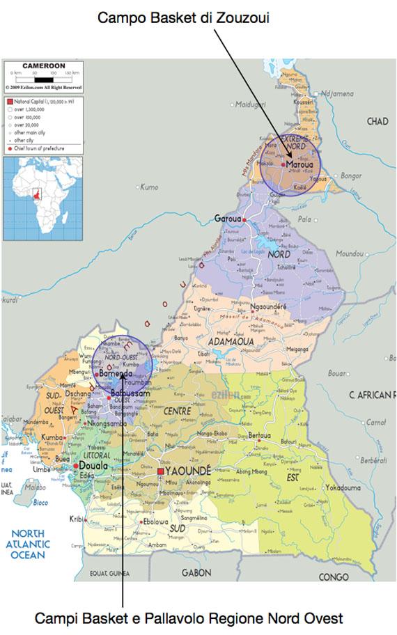 Mappa Campi Camerun