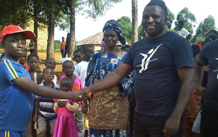 Edwin president Camerun Basket